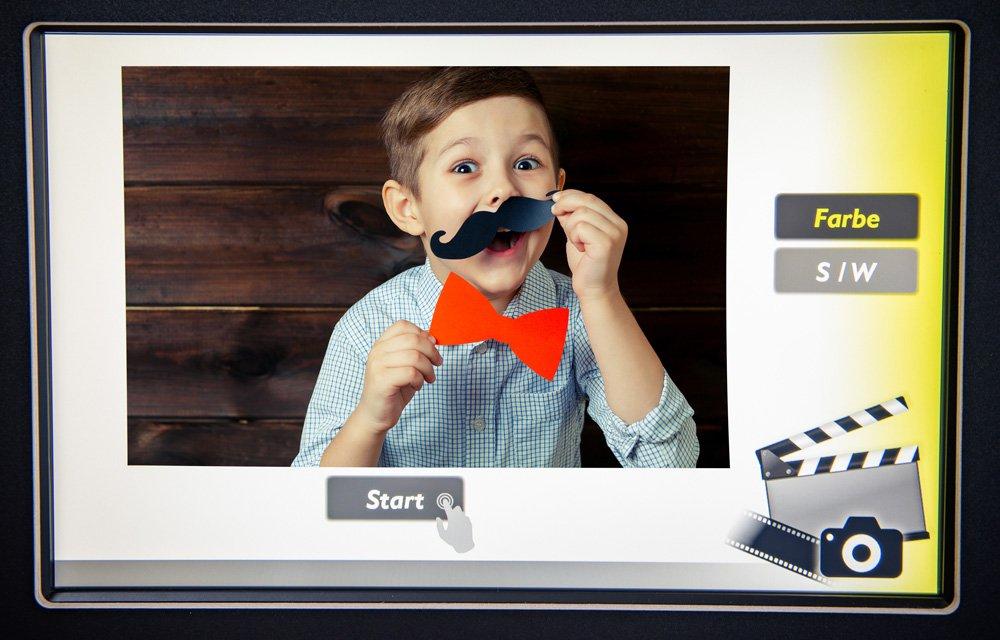Mieten der Fotobox mit einfacher Bedienoberfläche